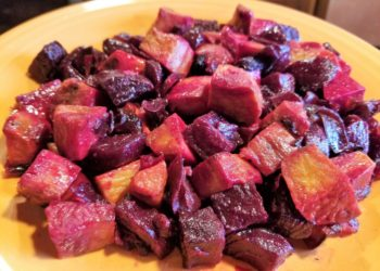 Beets, Sweet Potato and Red Onion